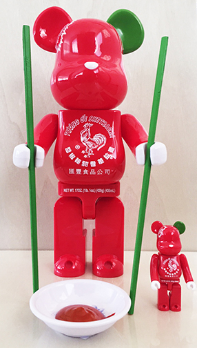 Sketracha Be@rbrick Artist Proof 400% & 100% Vinyl Figure Sets by Sket One x Bait x Medicom x Huy Fong Foods