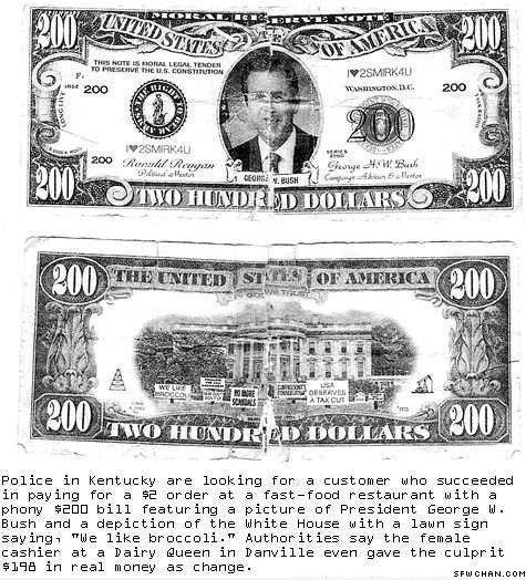 100 Dollars Fake Bill