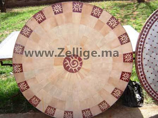 des tables mosaique en zellige marocain ronde couleur. Black Bedroom Furniture Sets. Home Design Ideas