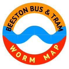 Bus & Tram Worm Map