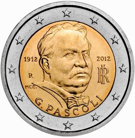 2 Euro Commemorative Coins Italy 2012 Giovanni Pascoli