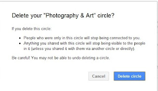 How to delete a Google+ cirlce