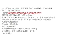 Jawatan Kerja Kosong Shutdown Petronas Penapisan Melaka