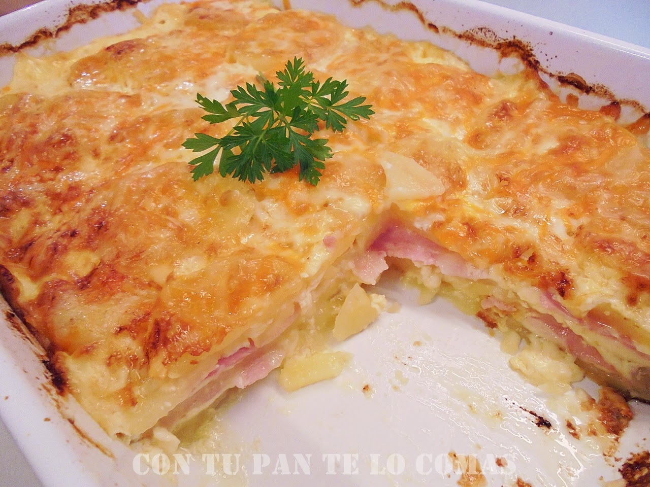 Pastel De Patatas, Bacon Y Queso
