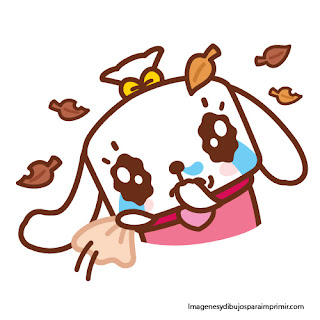 el caniche Mimi en otoño  Canimals para imprimir