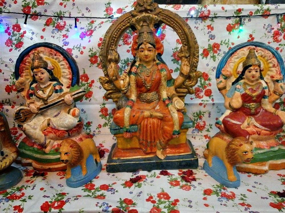 Durga Lakshmi and Saraswathi