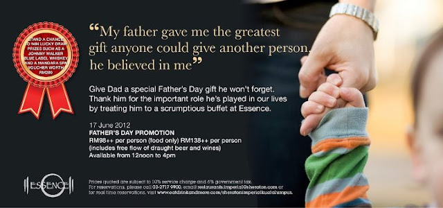 598800 10150891843983323 1724435292 n Fathers Day Promotion at Essence, Sheraton Imperial KL