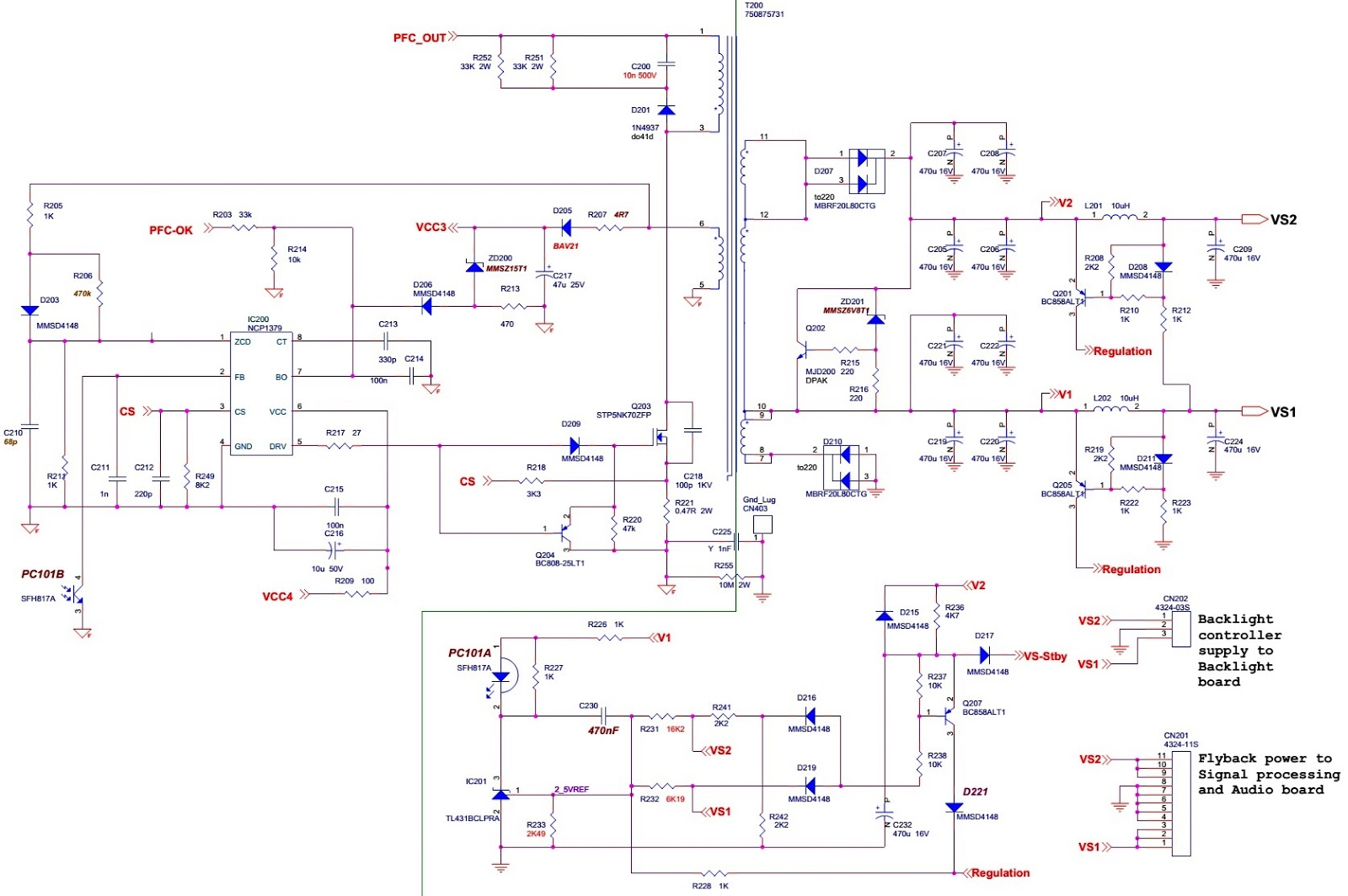46 Inch Lcd Tv Smps Schematic