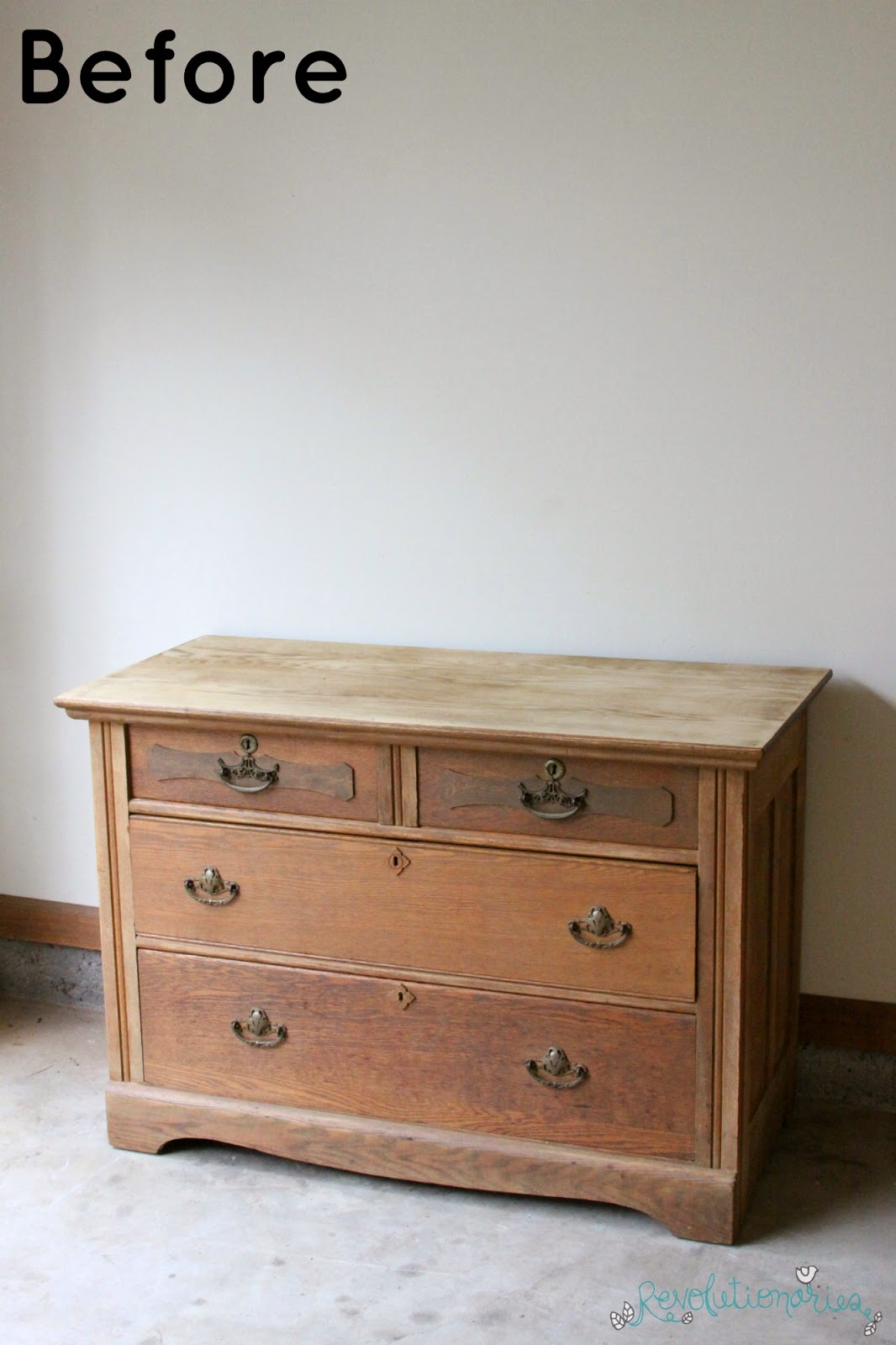 Before and After: The Two Tone Antique Dresser!