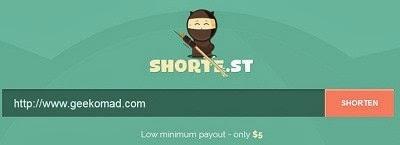 Shote.st URL Shortening and Making Money Website