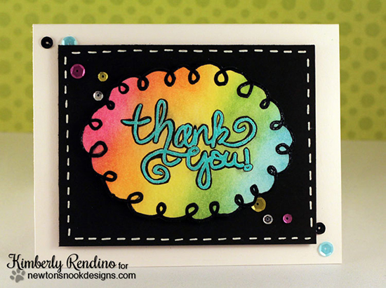 Thank you Card by Kimberly Rendino | Digital Stamp by Newton's Nook Designs