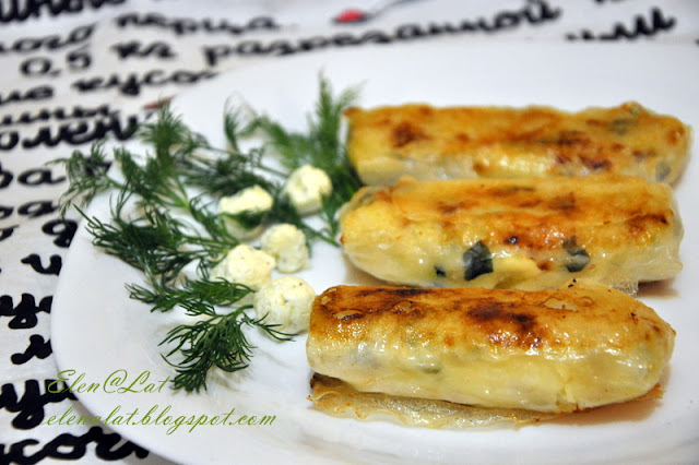 Пирожки с картошкой из рисового теста