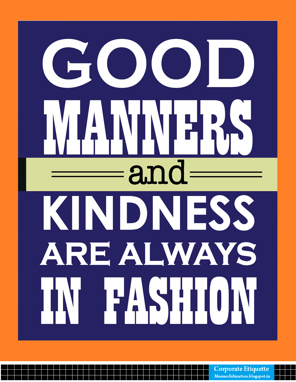 Good Manners Etiquette Good Manners in Fashion Poster