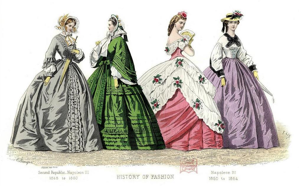Women Of 1800 S Wedding Dresses 111