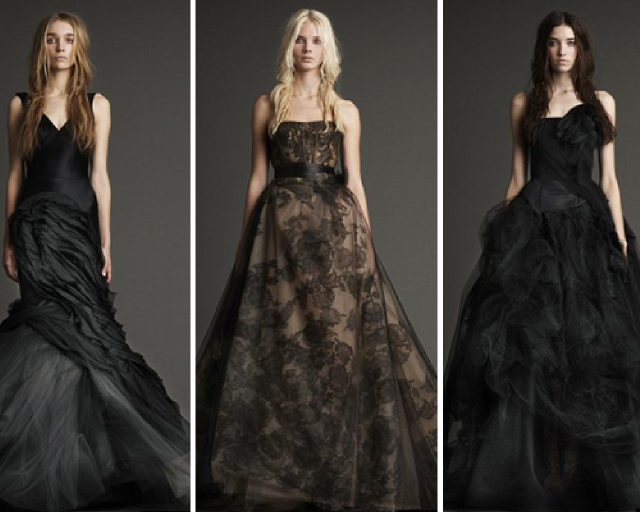 Gallery For Vera Wang Black Wedding Dresses 2013