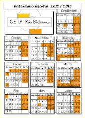 Calendario escolar 12-13