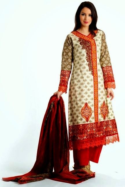 Pakistani Classic Embroidered Trouser Kameez