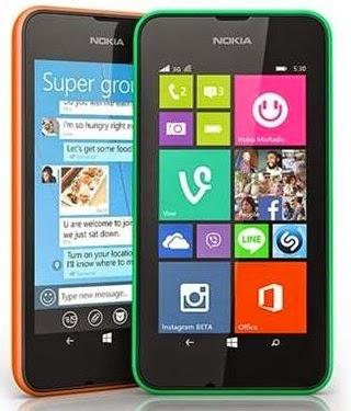 harga dan spesifikasi Nokia Lumia 530
