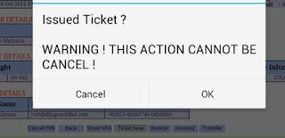 cara issue tiket
