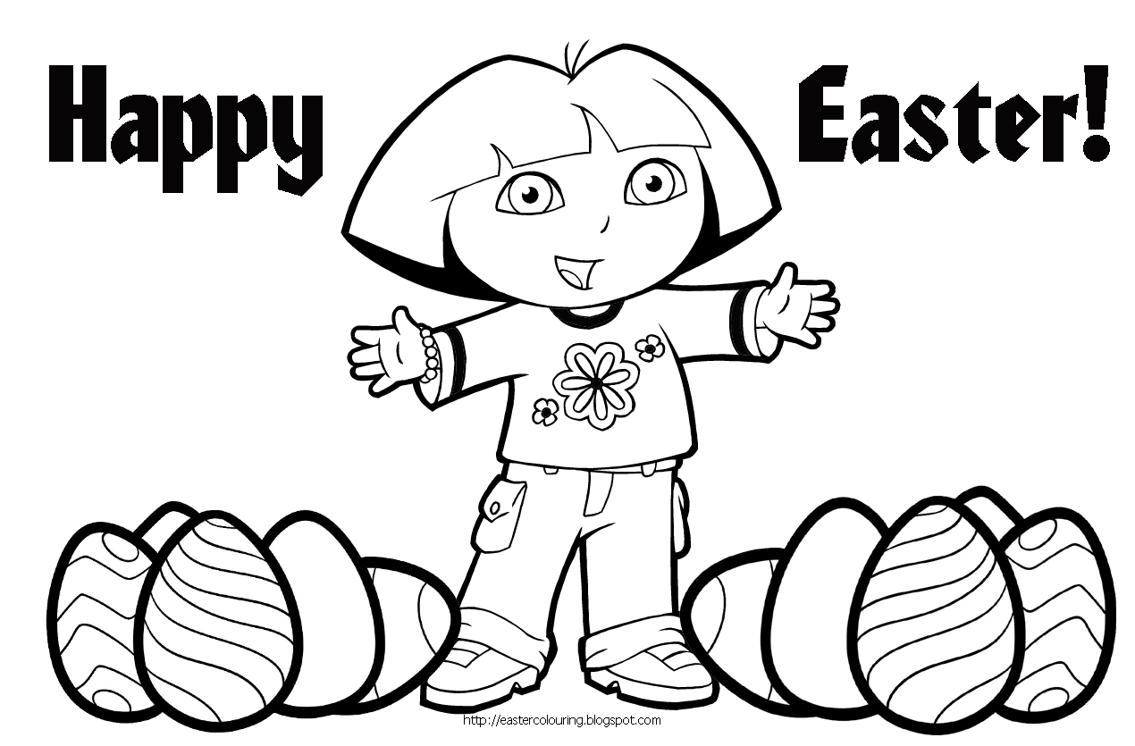 Easter colouring for Free easter coloring page