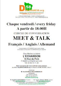 """Chaque vendredi CERCLE DE CONVERSATION """"MEET & TALK"""" de 18:00-20:00H"""