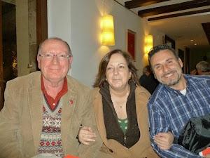 Con Amalia Sanchis y nuestro flamante Presidente Felipe Servulo.