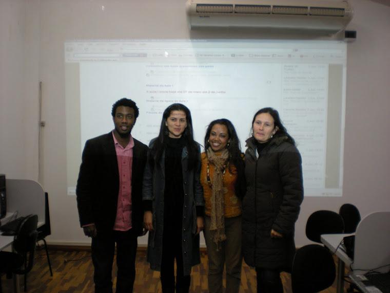 Professora Cíntia presente no encontro do Curso de Relações Étnico-Raciais da UFPEL