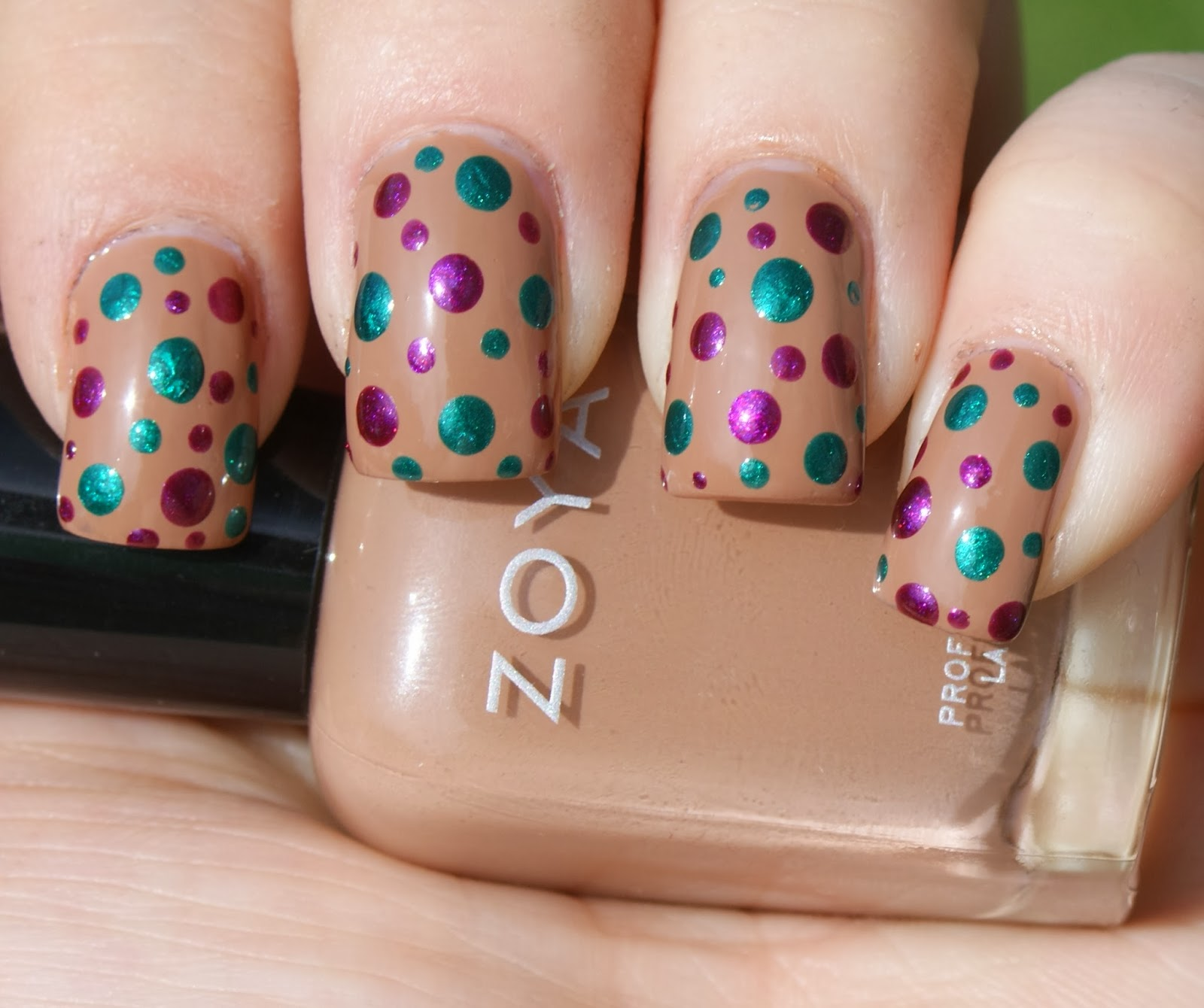 Princess Polish Zoya Jewel Tone Circus Dots