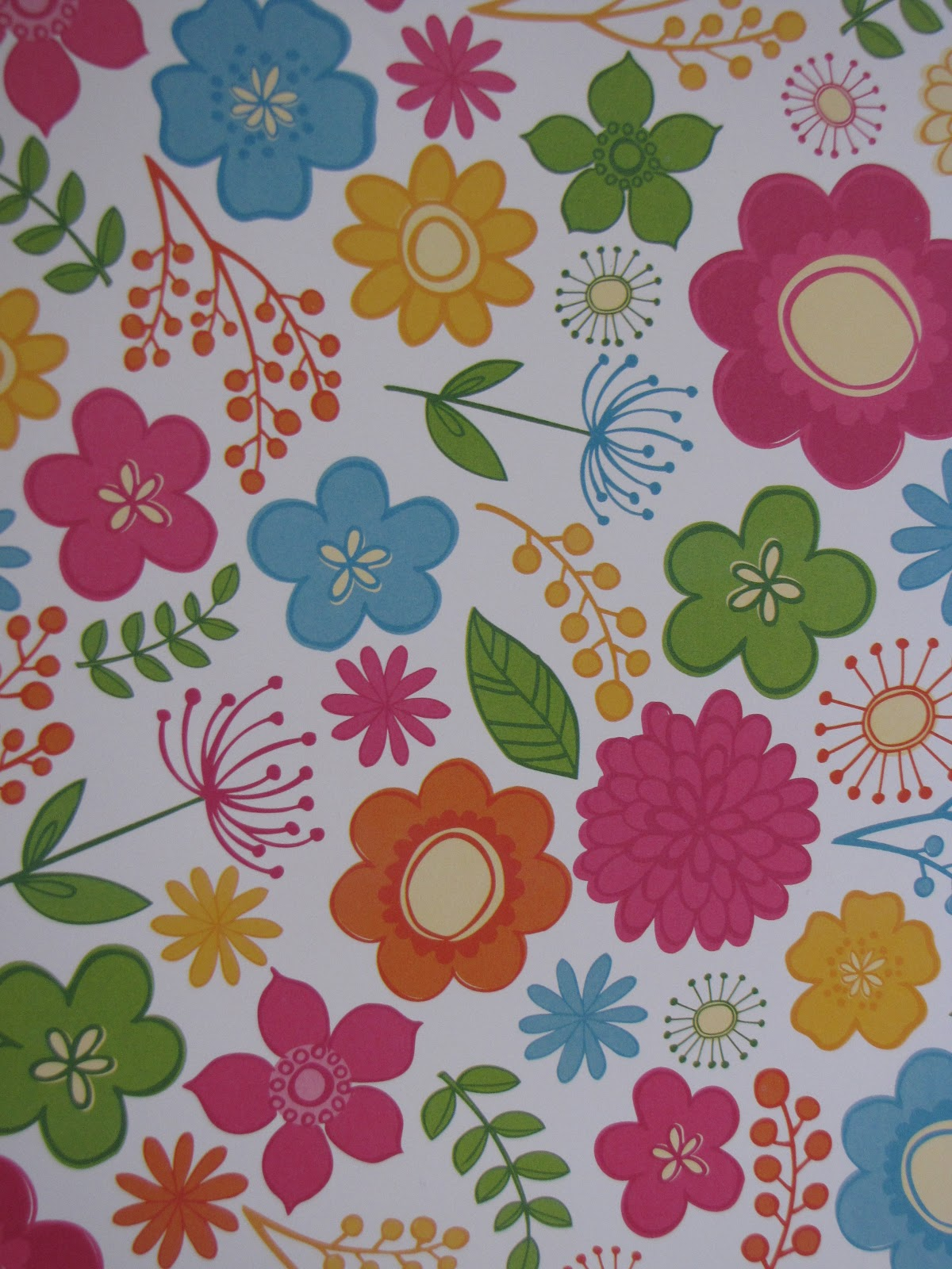 Sweet creations by debbie scrapbook paper inspired flower for Cute designs for paper