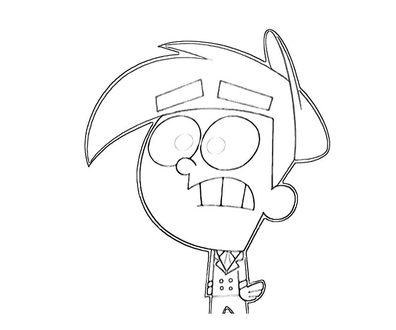 how to draw timmy turner from fairly odd parents