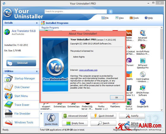 Your Uninstaller! Pro 7.4.2012.05 DC 22.01.2013