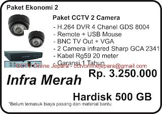 Paket CCTV Ekonomi 2 Kamera sharp