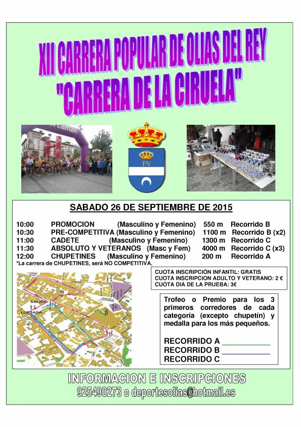 XXII Carrera de la Ciruela de Olías del Rey