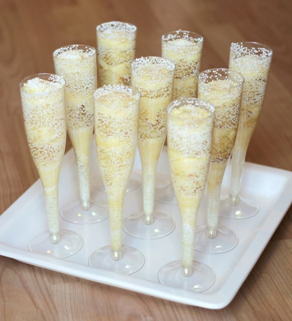 Champagne Glass Cake Stands