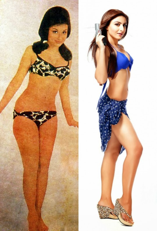 sharmila tagore and soha ali khan in bikini