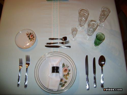 Catedra manuela beltran protocolo en la mesa for Protocolo cubiertos mesa