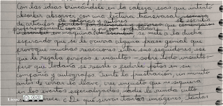 fragmento de manuscrito del texto