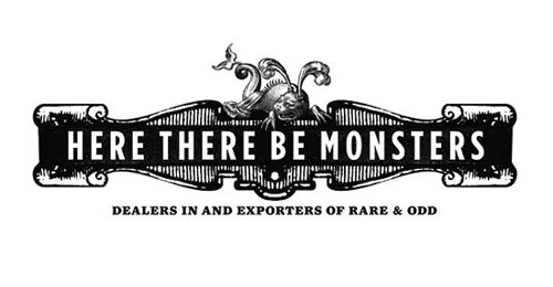 Logótipos Vintage - Here There Be Monsters