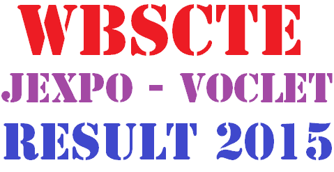 WBSCTE JEXPO Result 2015 and WB VOCLET Result 2015