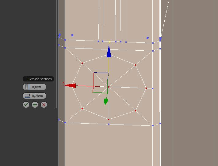 Extruir vértice en 3ds max.