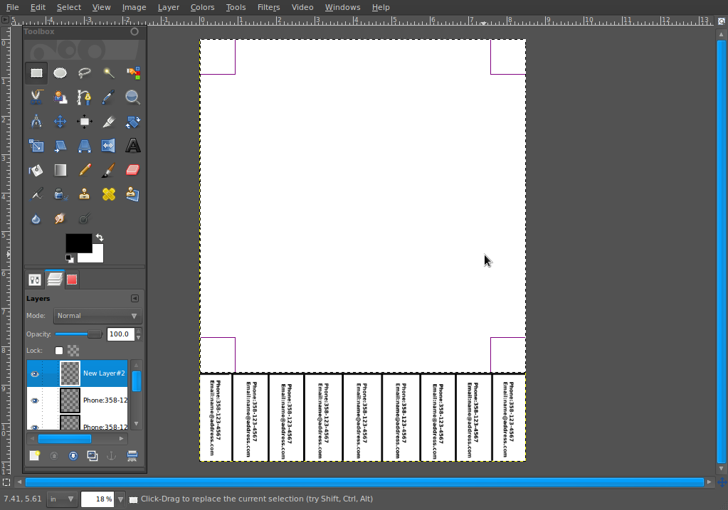How To Create A Tear Off Tabs Flyer In The Gimp Part 2 Cosmic Ace