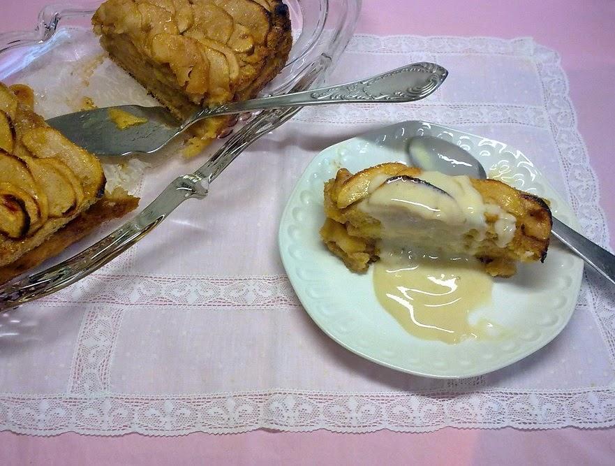 Charlota Sencilla de Manzana. Receta Vegana.
