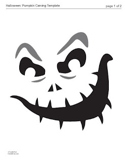 The creative cubby pinspiration friday pumpkin carving for Evil pumpkin face template