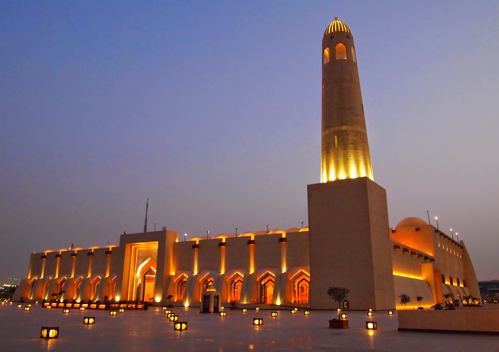 Beautiful View of Sheikh Muhammad Ibn Abdul Wahhab Mosque, Doha Qatar