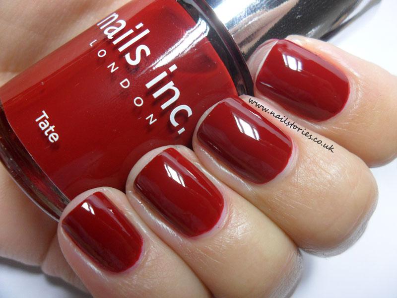 Nail Stories: Beautiful dark cherry red - Nails Inc Tate