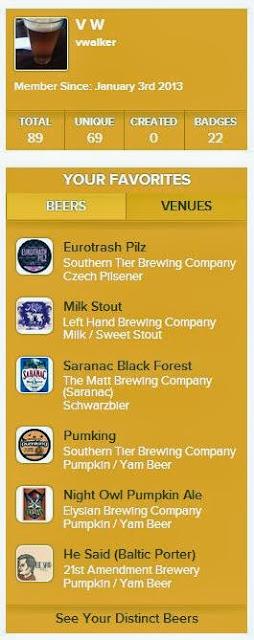 vwalker | Untappd Beer List