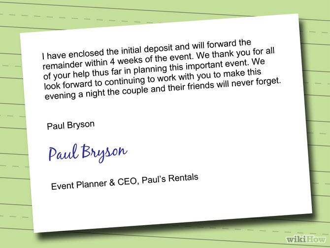 proper letter format from paul bryson