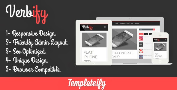 Verbify Blogger Template