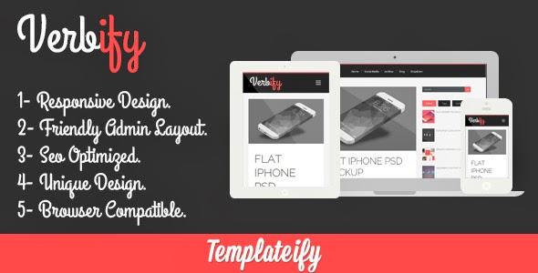 Verbify Blogger Template