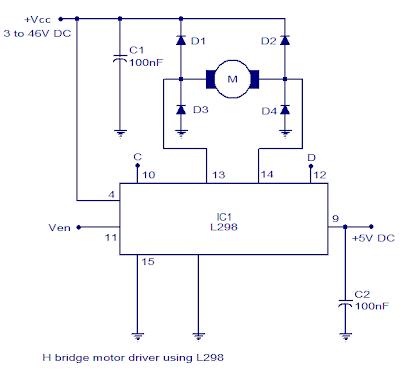 h bridge motor controller circuit diagram